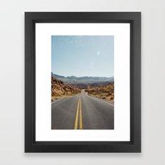 On the Desert Road Framed Art Print