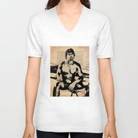 He Worked on His Father's Fishing Boat Unisex V-Neck