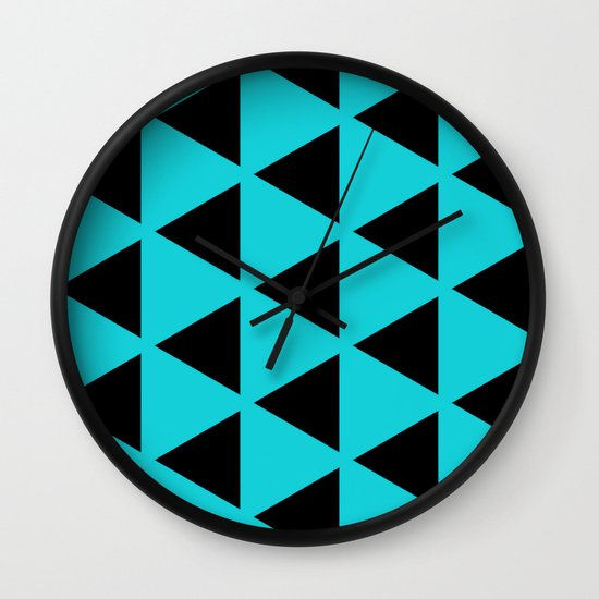 Sleyer Black on Blue Pattern Wall Clock