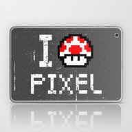 Laptop & iPad Skin featuring Pixel by EARTh