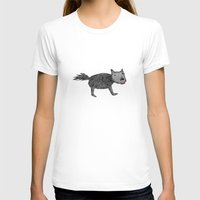 dog Womens Fitted Tee White SMALL