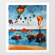 Rising Circus Art Print