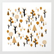 Art Print featuring Trees In The Forest by Nadia Keifens
