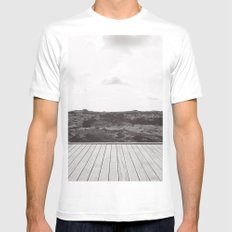 II WRLDS Mens Fitted Tee White SMALL