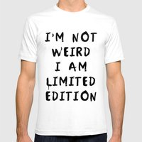 I'm Not Weird Poster 01 Mens Fitted Tee White SMALL