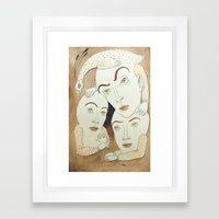 Slumber Party Framed Art Print