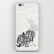 White Rabbit Says iPhone & iPod Skin