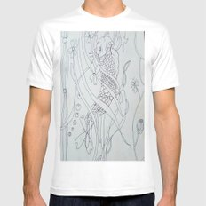 Koi FIsh  Mens Fitted Tee SMALL White