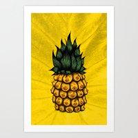 Pinipple Art Print