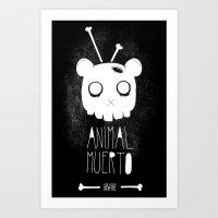 Animal Muerto Art Print