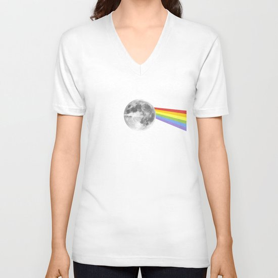 Dark Side of the Moon. V-neck T-shirt