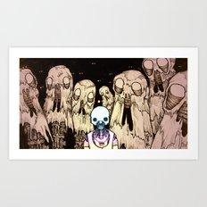 Rainbow Robo's Intergalactic Romp Art Print