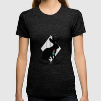 Aztec King of the Jackalope Womens Fitted Tee Tri-Black SMALL