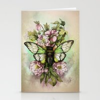 Cicada [The last summer chant]] Stationery Cards