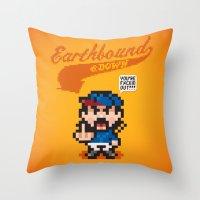 Earthbound & Down Throw Pillow