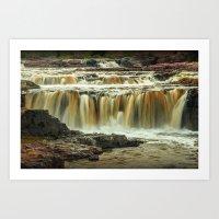 Waterfalls at Falls Park Sioux Falls in South Dakota Art Print