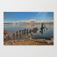 Pilings Canvas Print