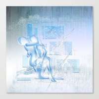 Eispaar Canvas Print