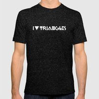 I Heart Triangles Mens Fitted Tee Tri-Black SMALL