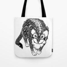 Black Cheetah Tote Bag