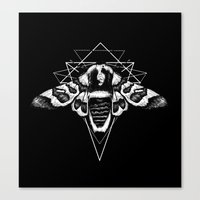 Geometric Moth 2 Canvas Print