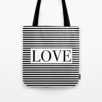 Monochromatic Love Tote Bag