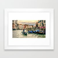 Venice Grand Canal Framed Art Print