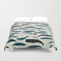 Whales and Porpoises sea life ocean animal nature animals marine biologist Andrea Lauren Duvet Cover
