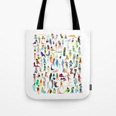 100 Tiny Ladies Tote Bag