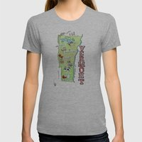VERMONT Womens Fitted Tee Athletic Grey SMALL