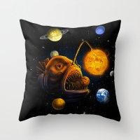 Cosmic Angler  Throw Pillow
