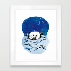 ours polaire Framed Art Print