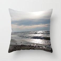 Contrawave Throw Pillow