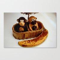 Monkeys Love Bananas Canvas Print