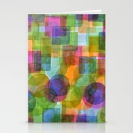 Befriended Squares And B… Stationery Cards