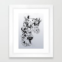 Better Teeth Framed Art Print
