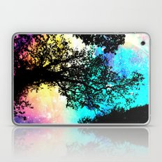 Black Trees Colorful Space bright Laptop & iPad Skin