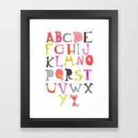 Pretty Alpahbet Framed Art Print