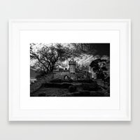 Ruins of Warwick, B&W Version Framed Art Print