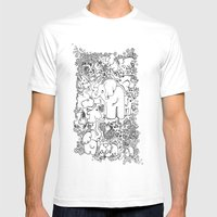 Little Elephants Mens Fitted Tee White SMALL