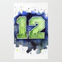 12th Man Seahawks Seattl… Rug