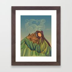 Volcano Love Framed Art Print