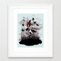 Dancing With Crows Framed Art Print