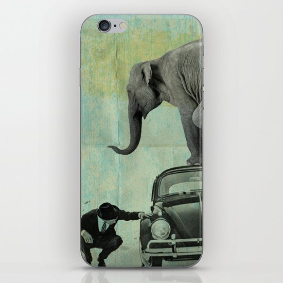 Looking for Tiny, Elephant on a VW beetle iPhone & iPod Skin