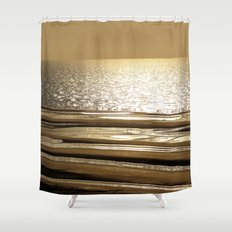 Autumn Beach Flag Shower Curtain