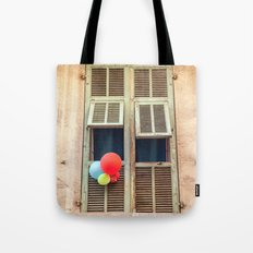 Nice France window 6133 Tote Bag
