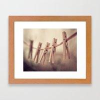 family of five Framed Art Print