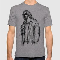 The Dude Mens Fitted Tee Athletic Grey SMALL
