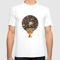 Rhythm is funky Mens Fitted Tee White SMALL