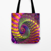 Coloured Spiral wheel Tote Bag